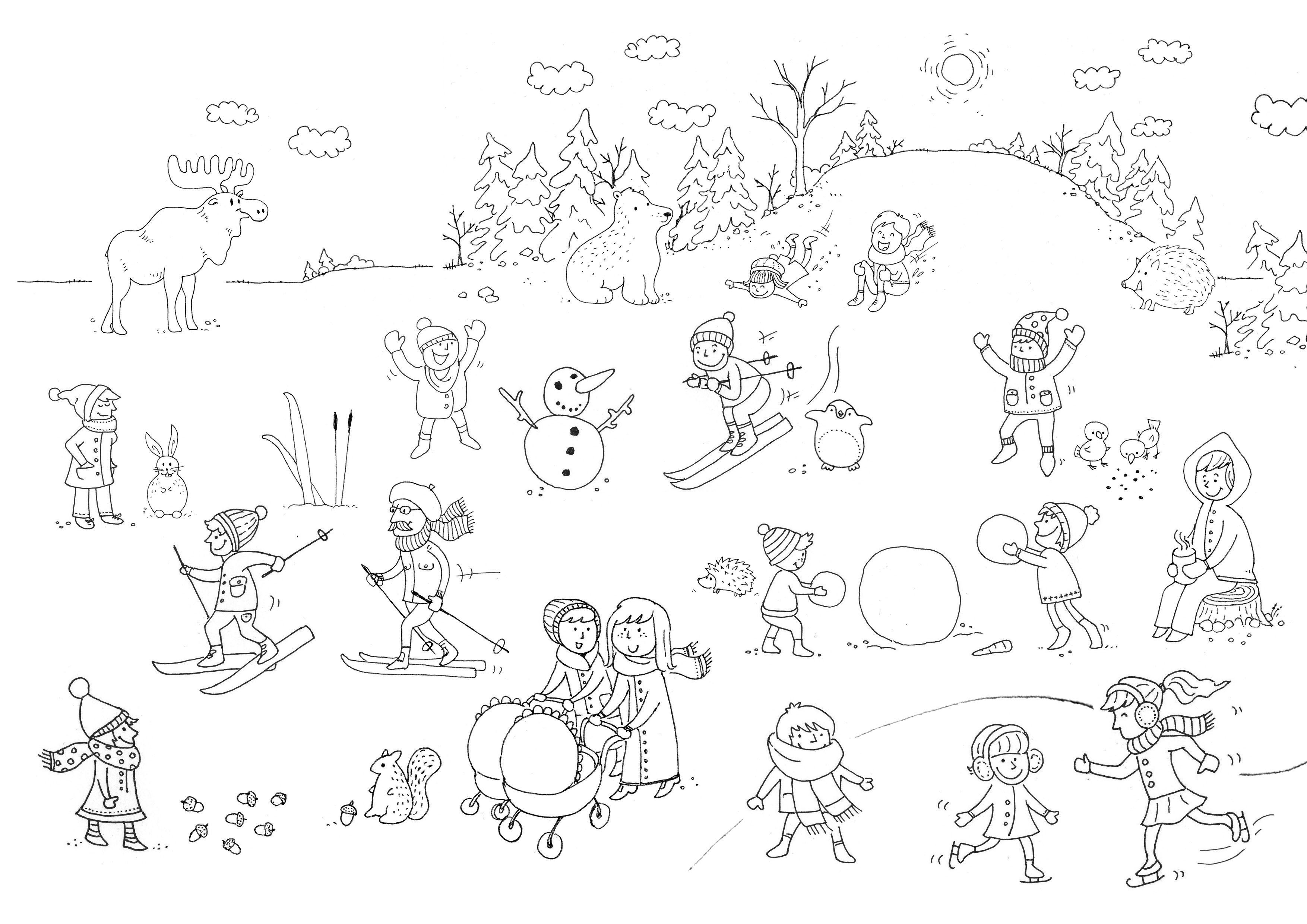 Winter Ausmalbilder Für Kinder : Ungew Hnlich Winter Malvorlagen F R Kinder Zum Ausdrucken Ideen